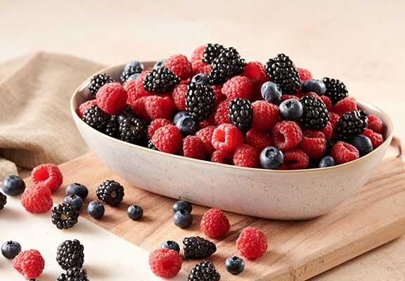 Blueberries, Blackberries or Raspberries