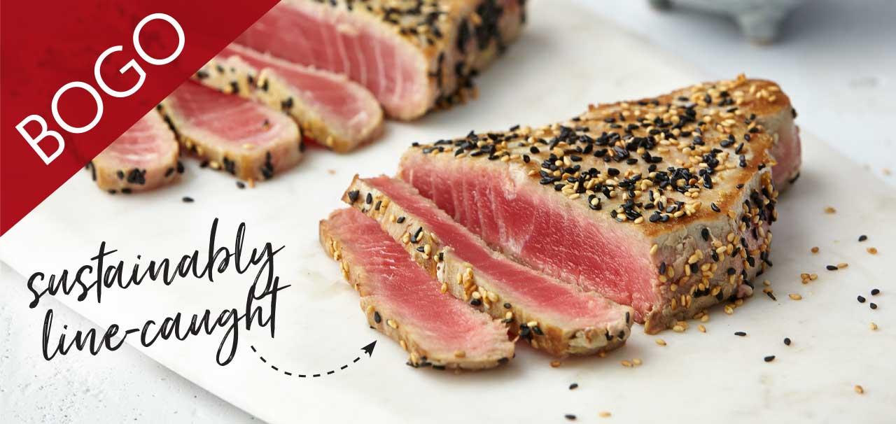 Wild Sashimi Tuna Steaks