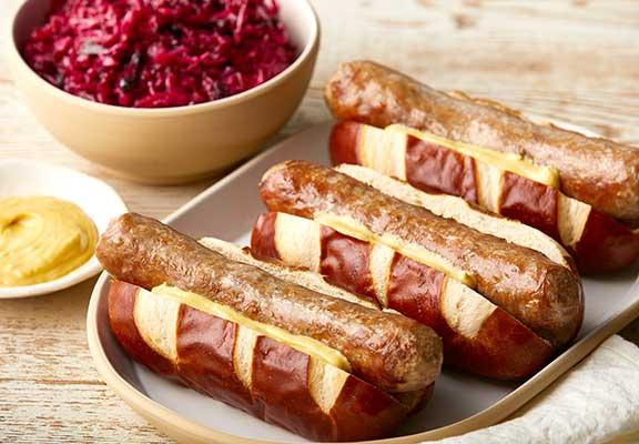Pretzel Hamburger or Hot Dog Buns