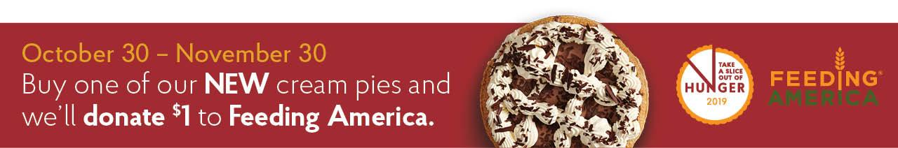 Cream Pies Feeding America Donation