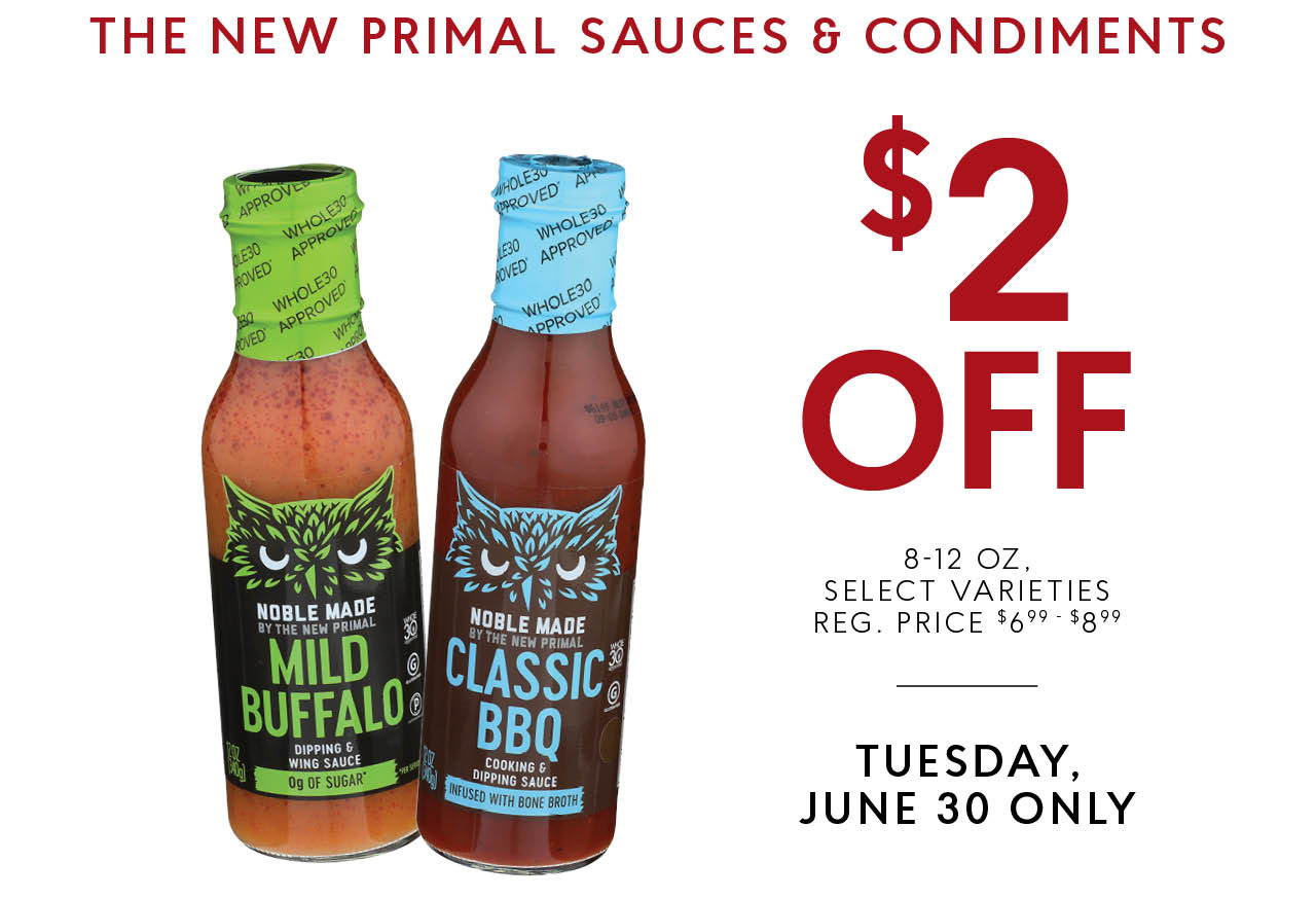 New Primal Sauces & Condiments